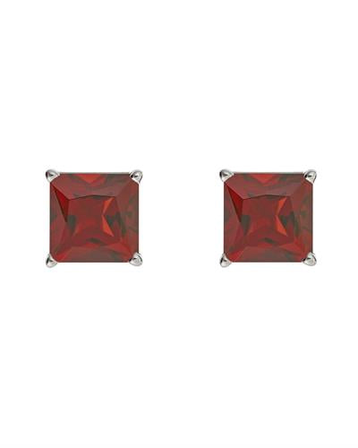 Brand New Earring with 2.6ctw garnet 925 Silver sterling silver