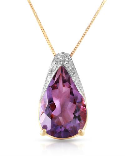 Magnolia Brand New Necklace with 5ctw amethyst 14K Two tone gold