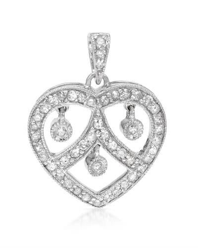 Brand New Pendant with 0.49ctw diamond 14K White gold