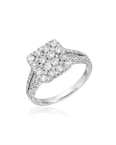 Julius Rappoport Brand New Ring with 1.34ctw diamond 18K White gold