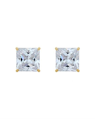 Brand New Earring with 0ctw cubic zirconia 14K Yellow gold