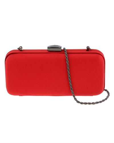 Scheilan Brand New Clutch  Red Satin