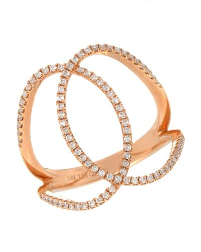 Brand New Ring with 0.31ctw diamond 18K Rose gold