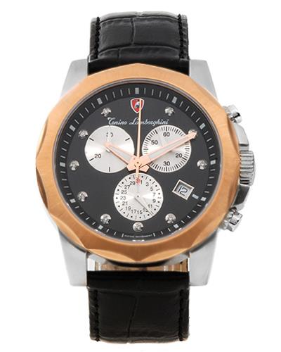 Tonino Lamborghini EN033DL.501 Brand New Swiss Movement date Watch with 0.05ctw diamond