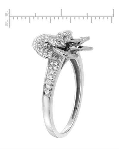 Lundstrom Brand New Ring with 0.6ctw diamond 14K White gold