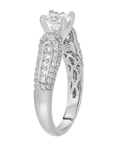Brand New Ring with 1.85ctw of Precious Stones - cubic zirconia and cubic zirconia 925 Silver sterling silver