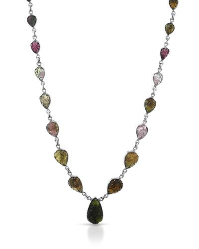 Brand New Necklace with 36.84ctw tourmaline 925 Silver sterling silver