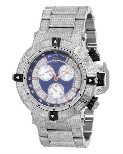 Techno Com by KC WA009444 Brand New Swiss Movement multifunction Watch with 6ctw of Precious Stones - crystal, diamond, and mother of pearl