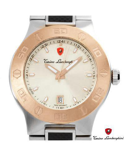 Tonino Lamborghini EN034.606CF Brand New Swiss Movement date Watch