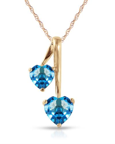 Magnolia Brand New Necklace with 1.4ctw topaz 14K Yellow gold