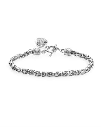 Brand New Bracelet with 0.15ctw diamond 925 White sterling silver