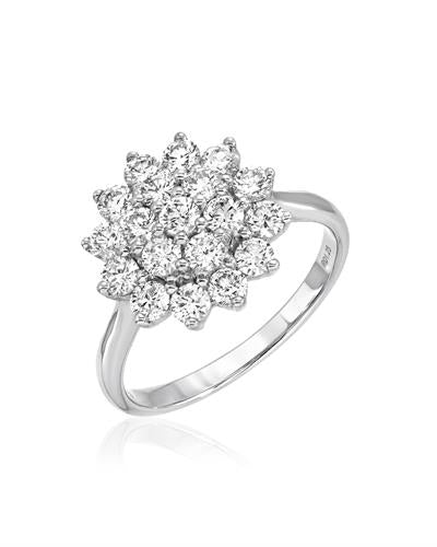 Julius Rappoport Brand New Ring with 1.25ctw diamond 18K White gold