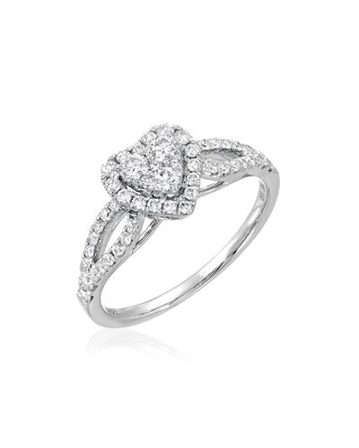 Brand New Ring with 0.63ctw diamond 18K White gold