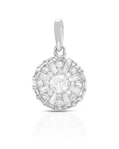 Brand New Pendant with 0.41ctw of Precious Stones - diamond and diamond 14K White gold
