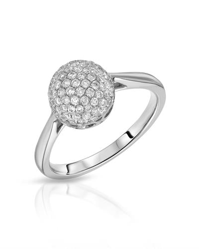 Julius Rappoport Brand New Ring with 0.51ctw diamond 18K White gold