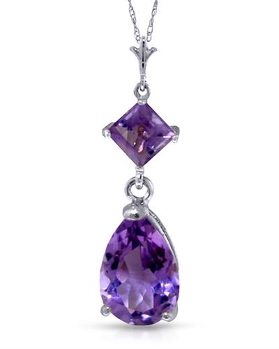 Magnolia Brand New Necklace with 2ctw amethyst 14K White gold