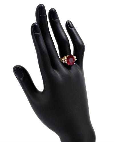 Brand New Ring with 4.5ctw of Precious Stones - diamond and ruby 14K Yellow gold