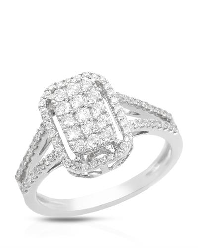 Brand New Ring with 0.61ctw diamond 14K White gold