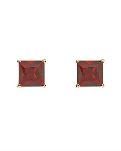 Brand New Earring with 1.6ctw garnet 14K Yellow gold