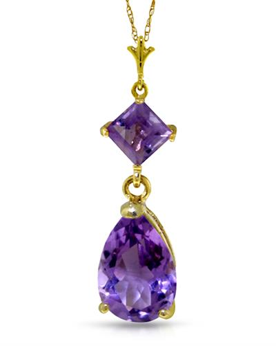 Magnolia Brand New Necklace with 2ctw amethyst 14K Yellow gold