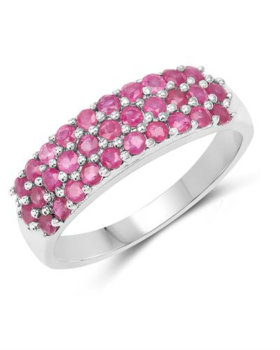 Brand New Ring with 1.55ctw ruby 925 Silver sterling silver