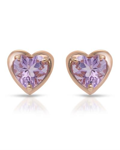 Brand New Earring with 1.55ctw amethyst 10K Rose gold