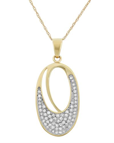 Brand New Necklace with 0.33ctw diamond 10K Yellow gold