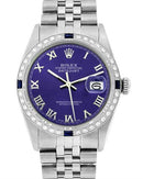 Rolex PreOwned Automatic (Self Winding) date Watch with 1ctw of Precious Stones - diamond and sapphire