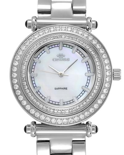 Oniss ON8182-L Paris Brand New Swiss Quartz Watch with 0ctw of Precious Stones - crystal and mother of pearl