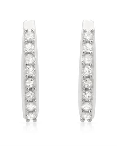 Brand New Earring with 0.25ctw diamond 925 Silver sterling silver
