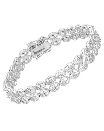 Brand New Bracelet with 0.5ctw diamond 925 Silver sterling silver