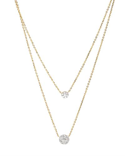 Brand New Necklace with 0.42ctw diamond 14K Yellow gold