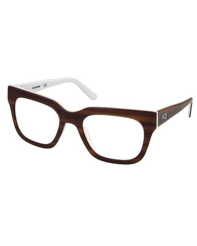 AQS OMAL002 Wood Malcolm Brand New Eyeglasses  Two tone plastic