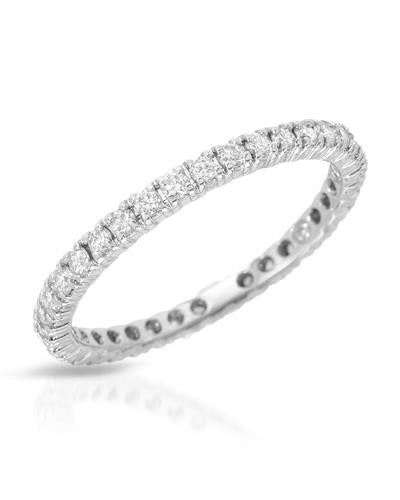 Julius Rappoport Brand New Ring with 0.54ctw diamond 18K White gold