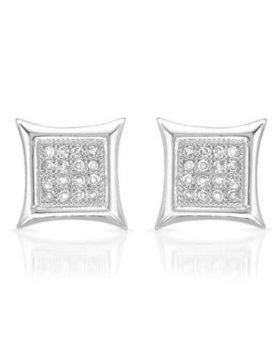 Lundstrom Brand New Earring with 0.13ctw diamond 10K White gold