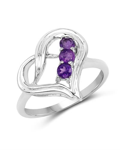 Brand New Ring with 0.3ctw amethyst 925 Silver sterling silver
