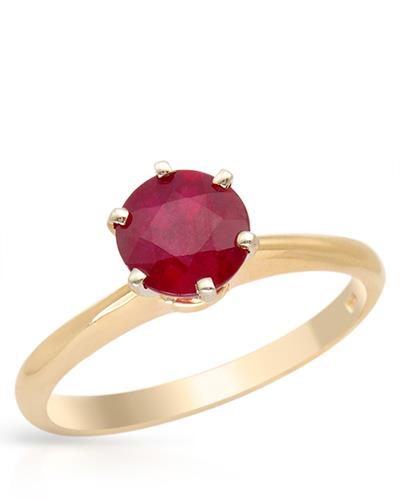 Brand New Ring with 2.2ctw ruby 14K Two tone gold