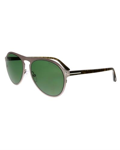 Tom Ford FT0525 14N Bradburry Brand New Sunglasses  Silver metal