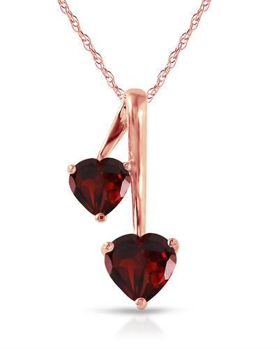 Magnolia Brand New Necklace with 1.4ctw garnet 14K Rose gold