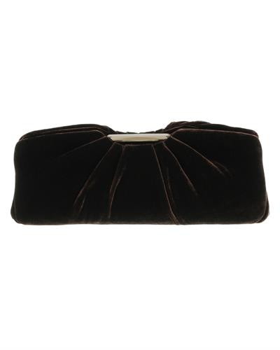 Scheilan Brand New Clutch  Brown Fabric
