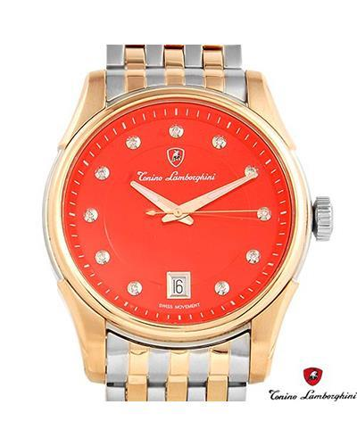 Tonino Lamborghini EN035D.504 Brand New Swiss Movement date Watch with 0.05ctw diamond