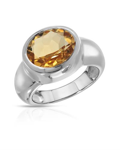 Brand New Ring with 4.25ctw citrine 925 Silver sterling silver