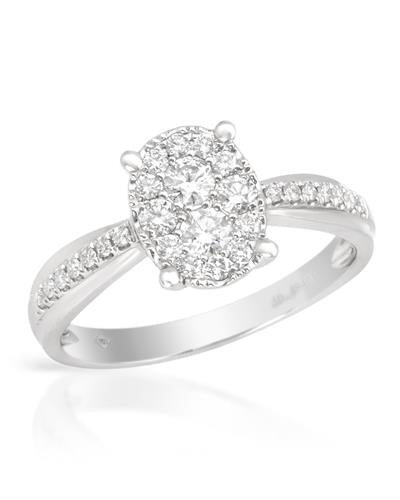 Brand New Ring with 0.48ctw diamond 18K White gold
