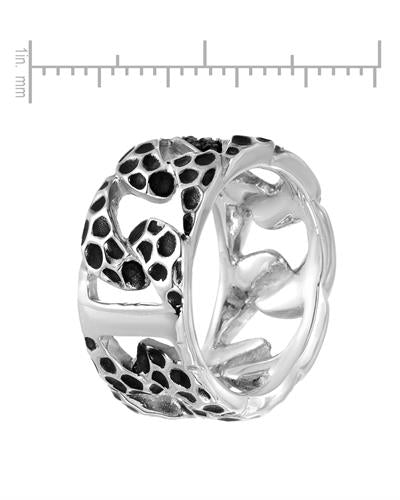 Currency Brand New Ring with 0.39ctw diamond 925 Two tone sterling silver