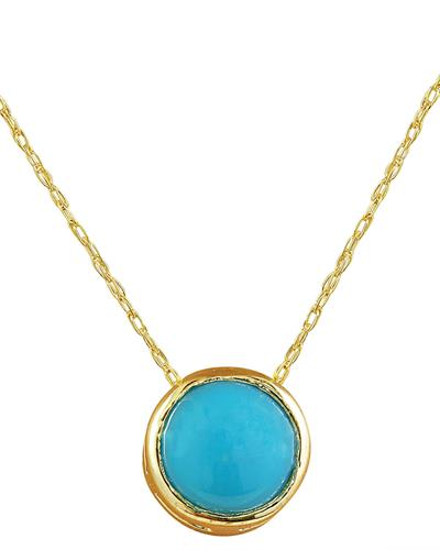 Brand New Necklace with 1.5ctw turquoise 14K Yellow gold