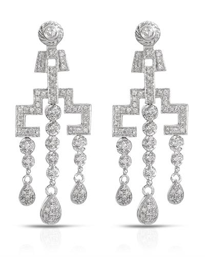 Brand New Earring with 1ctw diamond 14K White gold