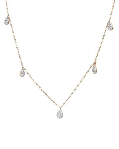 Brand New Necklace with 0.54ctw diamond 14K Yellow gold