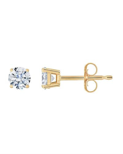Brand New Earring with 0.5ctw diamond 14K Yellow gold
