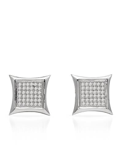 Lundstrom Brand New Earring with 0.25ctw diamond 10K White gold