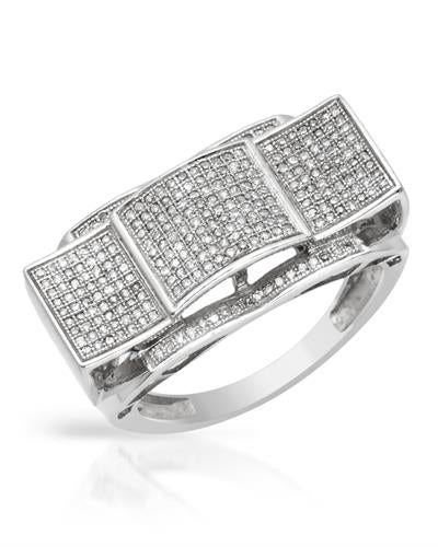 Lundstrom Brand New Ring with 0.65ctw diamond 10K White gold